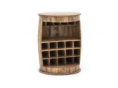 Wine Lovers Collection Round Bar Cabinet