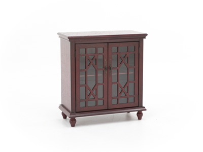 Bayberry Red Accent Cabinet