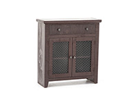 Aged Barn Red Accent Cabinet