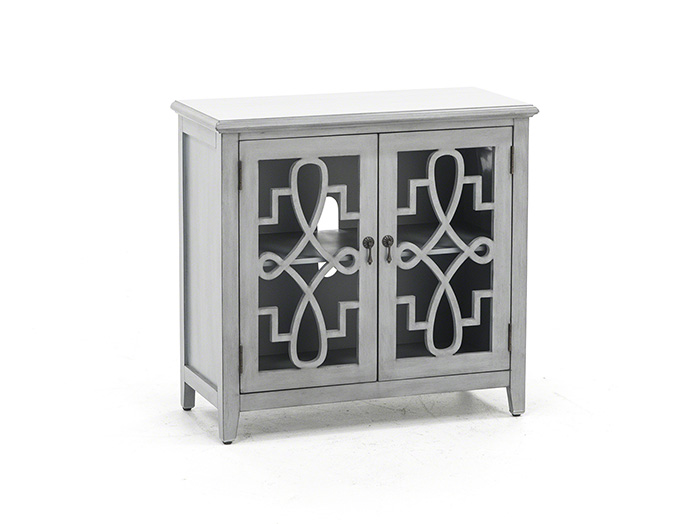 Grey Filigree Cabinet