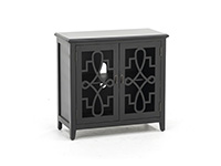 Black Filigree Cabinet
