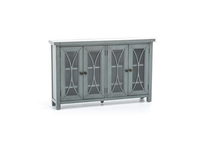 Bayside Collection Egg Blue 4 Door Cabinet