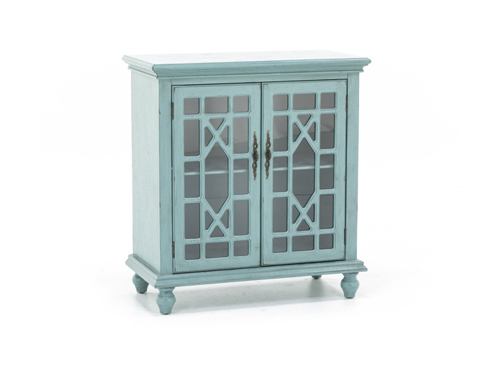 Bayberry Teal Accent Cabinet