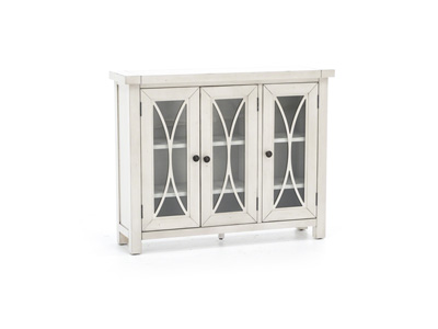 Bayside Collection Antique White 3 Door Cabinet