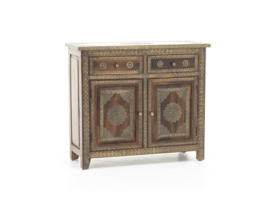Gold Plated Accent Cabinet