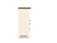 Tuscan Collection White & Pine Coffee Cabinet