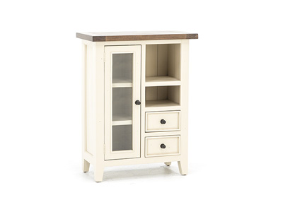 Tuscan Retreat White & Pine Coffee Cabinet