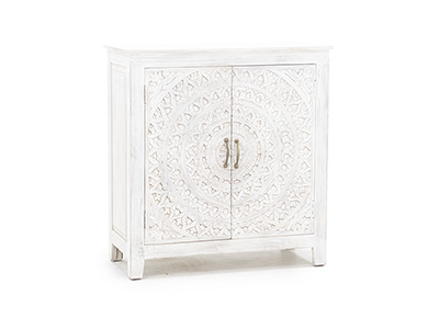 Carved Lace 2 Door Cabinet