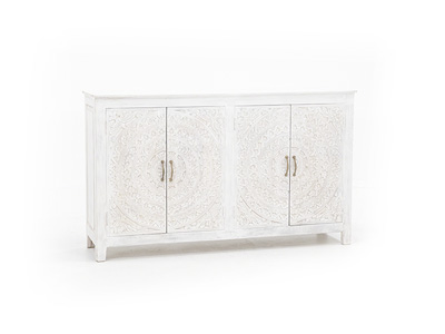 Carved Lace 4 Door Cabinet