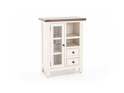 Tuscan Retreat White & Oxford Coffee Cabinet