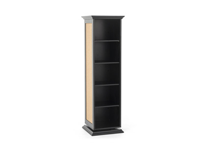Black Swivel Accent Cabinet