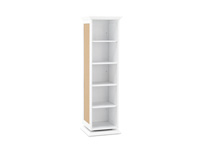 White Swivel Accent Cabinet