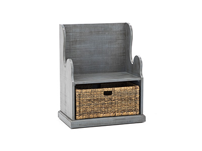 Storage Solutions Collection Sage Hall Seat with Basket