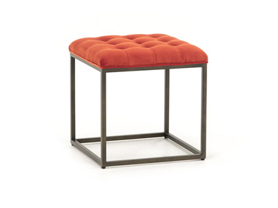 Bennett Sunset Red Ottoman