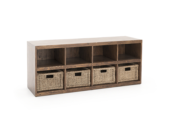 Tuscan Retreat Oxford 4 Basket Storage Cube