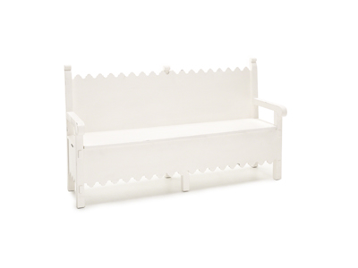 Magnolia Home Jo's White Scalloped Bench