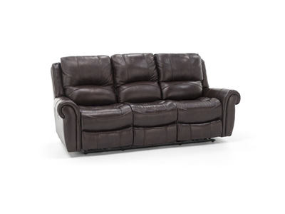 Sofia Leather Power Recline with Power Headrest Sofa
