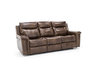 Tulsa Leather Power Headrest Reclining Sofa