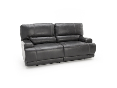 Plateau Leather Power Recline Sofa