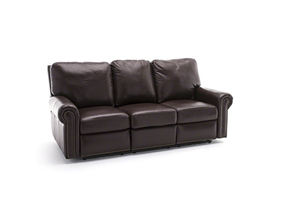 Design & Recline Fairfield Leather Power Recline Sofa