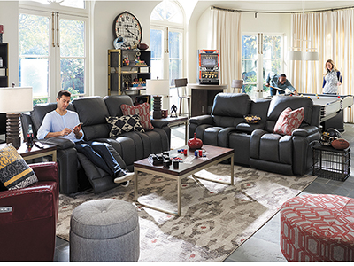 Greyson Leather Power Recline Sofa