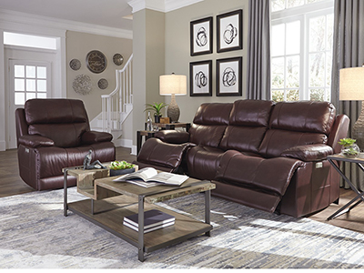 Kasey Leather Fully Loaded Sofa