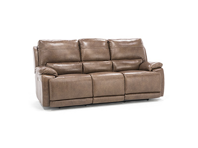 Brady Leather Power Headrest Sofa