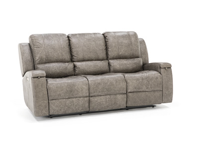 Braxton Leather Power Recline with Power Headrest Sofa
