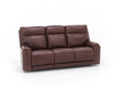 Tyson Leather Power Recline with Power Headrest Sofa