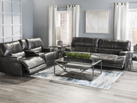 Placier Leather Power Recline Sofa