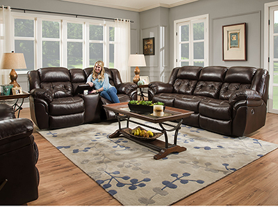 Cheyenne Whiskey Recline Sofa