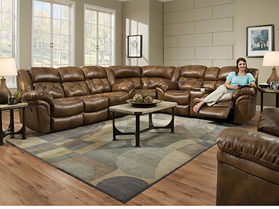 Cheyenne 3-pc. Saddle Reclining Sectional