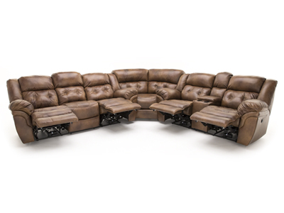 Cheyenne 3-pc. Saddle Power Recline Sectional