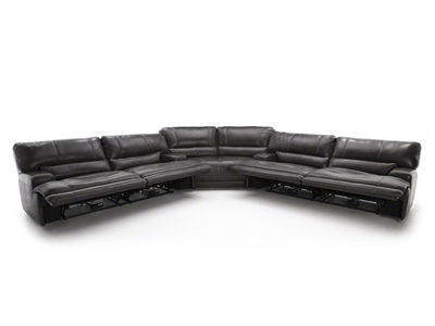 Placier Leather 3-pc. Power Recline Sectional