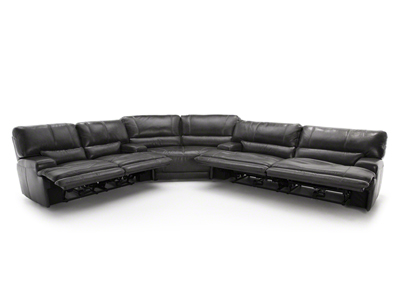 Placier 3-Pc. Leather Power Reclining Sectional