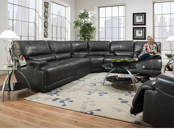 Plateau Leather 3-pc. Power Recline Sectional