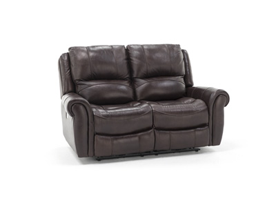 Sofia Leather Power Headrest Loveseat