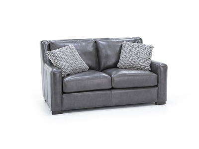 Chloe Leather Loveseat
