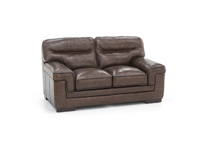 Pipin Leather Loveseat