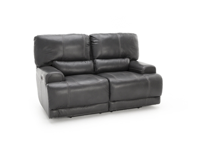 Plateau Leather Power Recline Loveseat