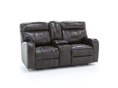 Vista Power Recline Console Loveseat