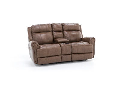 Abbey Power Recline Console Loveseat