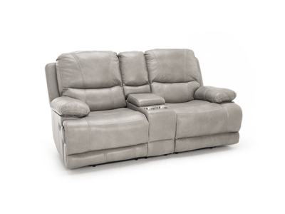 Softie Reclining Console Loveseat