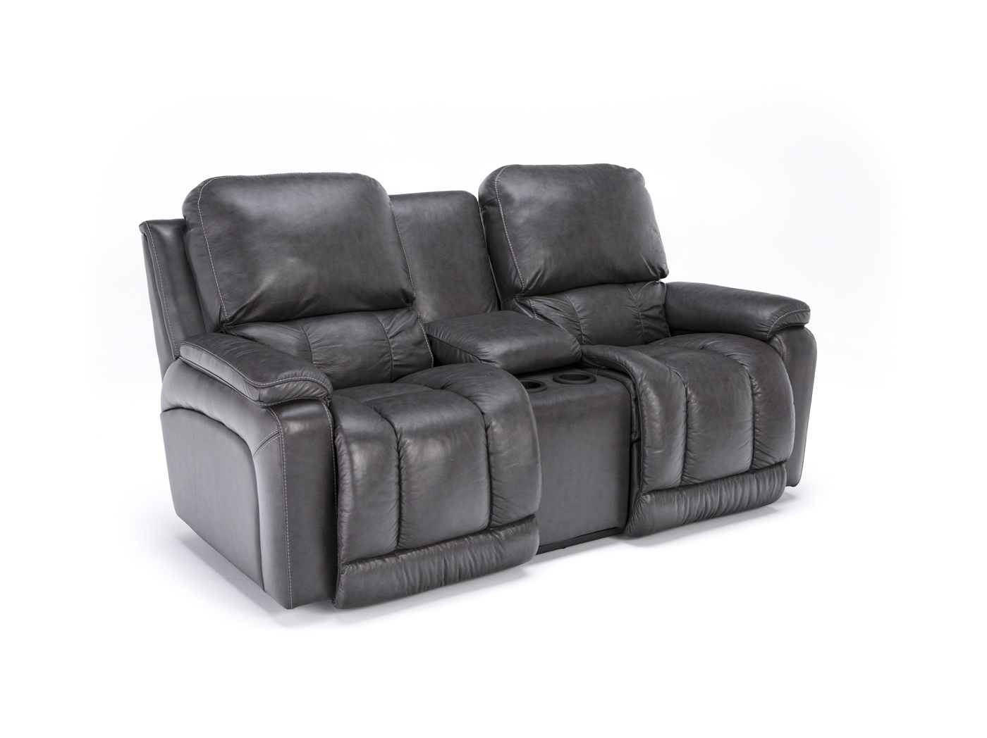 Greyson Leather Power Recline Console Loveseat Steinhafels