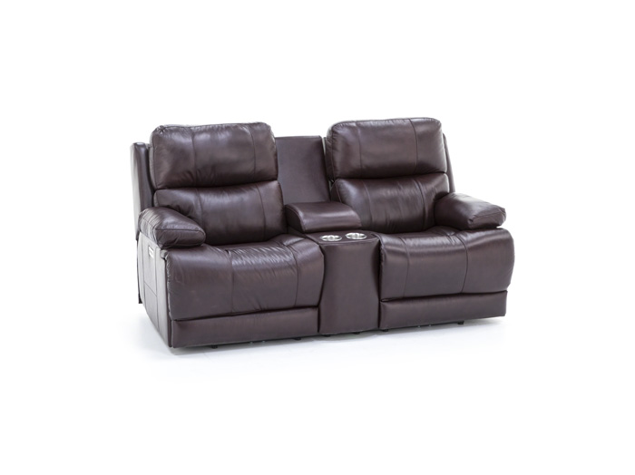Bennett Leather Power Reclining Sofa And Console Loveseat