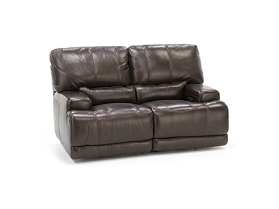 Placier Leather Power Headrest Loveseat