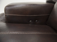 Placier Leather Power Recline Loveseat