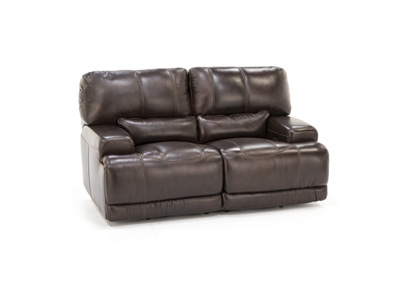 Placier Leather Power Reclining Loveseat