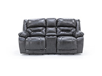 Lusso Leather Fully Loaded Console Loveseat