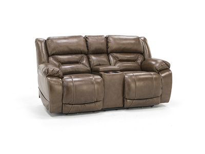 Lusso Power Recline Console Loveseat
